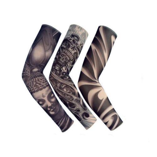 Nylon Tattoo Arm wärmer Ärmel UV Schutz Laufsport Radfahren DE