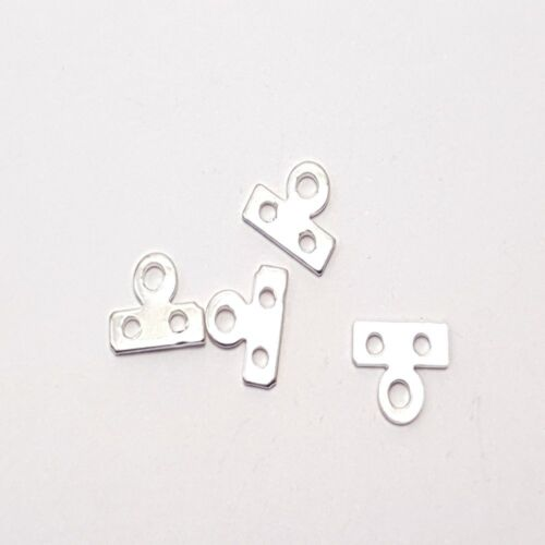 Silver 100 x 2 Hole Iron Spacer Bars Findings A5664