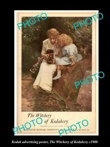 8x6-HISTORIC-PHOTO-OF-KODAK-CAMERA-ADVERTISING-POSTER-WITCHERY-OF-KODAK-c1900