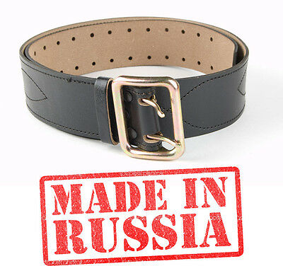 Genuine Leather belt Brown New Russian army military Officer uniform