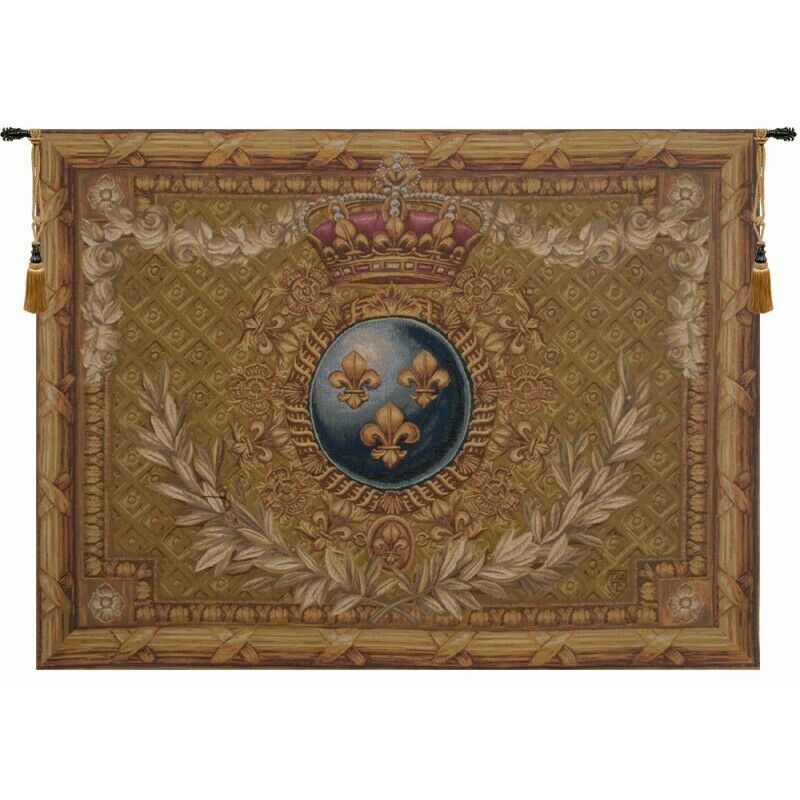 Courronne Empire French Tapestry Wall Hanging H 44  x W 58