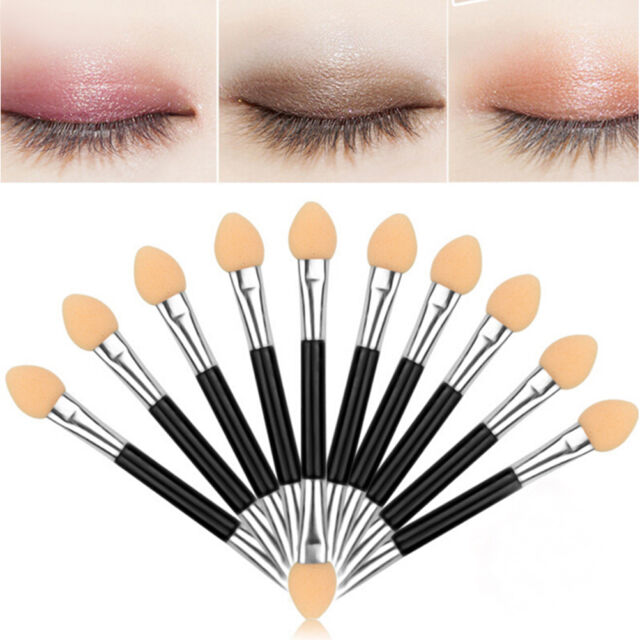 12Pcs Makeup Double-end Eye Shadow Eyeliner Brush Sponge Applicator Tool  EB