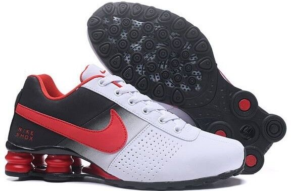 Nike Shox Deliver Men Athletic Shoe White, Red & & Red Black Size 10 a46c73