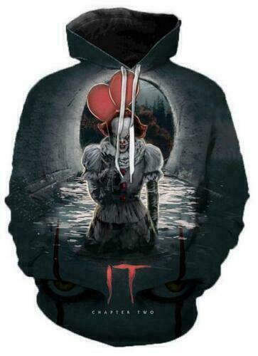 New Stephen King It Pennywise Horror Clown 3D Print Unisex Sweatshirt Hoodies