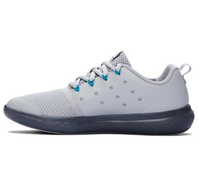 competitive price cca66 0d82c Grade School UA Under Armour Charged 24/7 Low Athletic Shoe Leather Gray  1288971
