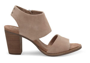 557569c3534 TOMS Women s 10009813 Desert Taupe Suede Majorca Cutout Wedge Heels ...