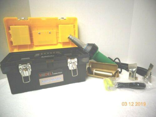 1600W PROFESSIONAL HOT AIR TORCH HEAT GUN PLASTIC WELDING GUN WELDER W//TOOL BOX