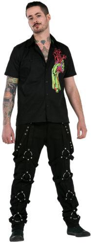 Pantalones Nuevo Dead Threads Negro Para Hombre Pantalones Algodon Tachuelas Punk Emo Rock Metal Ropa Calzado Y Complementos Aniversario Cozumel Gob Mx