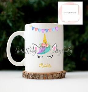 Personalised Rainbow Unicorn Cup Ceramic Novelty Mug Funny Gift Coffee Tea