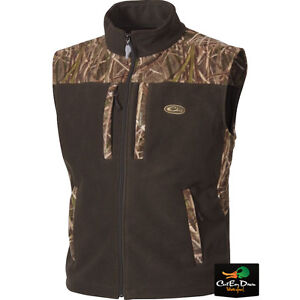 dbaf9a2e9cac2 Image is loading DRAKE-WATERFOWL-WINDPROOF-LAYERING-TWO-TONE-FLEECE-VEST-