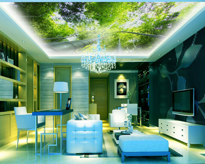 3D Sunshine Forest 657 Ceiling Wall Paper Print Wall Indoor Wall Murals CA Carly