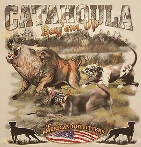 Details about CATAHOULA BAY'EM UP BOAR HUNTING WILD HOG HUNTER #595 LONG  SLEEVES SHIRT