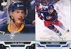 14-15-Upper-Deck-R-J-Umberger-10-High-Gloss-Blue-Jackets-2014-HG