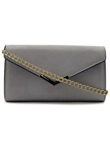 Gray-Faux-Leather-Vegan-Urban-Expressions-Crossbody-Purse-Clutch