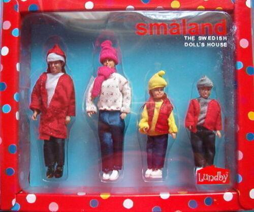 4 Puppen Familie Puppenhaus Lundby Småland Winterkleidung 2013