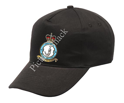 ONE SIZE WITH ADJUSTABLE STRAP RAF 56 SQUADRON CREST PRINTED ON A BASEBALL CAP