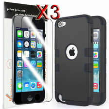 Heavy Duty Shock Proof Case Cover for Apple iPod Touch 6 5G 5th Gen + 3pcs films