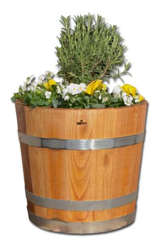 Blumentopf Pflanzkübel Blumenkübel aus Kastanie geölt Holz rund D 30//40//50//60 cm