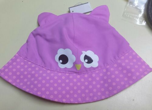 Baby Toddler Girls Pink//fuschia OWL FACE /& EARS Sun Hat Cap One Size NWT #FRBB