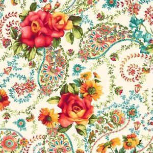 Bordeaux-Rose-Provence-Paisley-Garden-Cream-by-RJR-Fabric