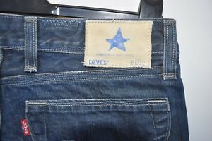Vintage-Levis-Blue-blue-jeans-W-30-L-34-red-tab-button-fly-straight-leg