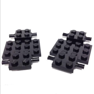 LEGO: Pack of 2 Black 4 X 7 Vehicle // Car Chassis Plate NEW. 2441