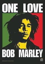 "BOB MARLEY FLAGGE / FAHNE ""ONE LOVE"" - POSTER FLAG"