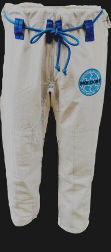 Woldorf USA BJJ Jiu Jitsu Kimono uniform pant white Ripstop Cotton Stretchy Rope