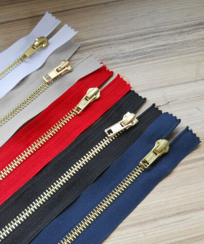 "8/"" BLACK// NAVY// WHITE// RED OR BEIGE *** 4/"" 7/"" BRASS JEAN ZIPS 5/"" 6/"""