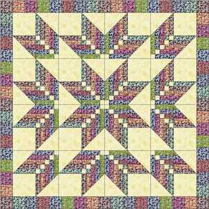 Easy Quilt Kit/Floral Explosion/Pre-cut Fabrics Ready To Sew/