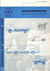 Auto & Motorrad: Teile Temperamentvoll Daimler-benz Ag Mercedes Scheinwerfer Zeitschrift 8/1961 Chinesische Aromen Besitzen
