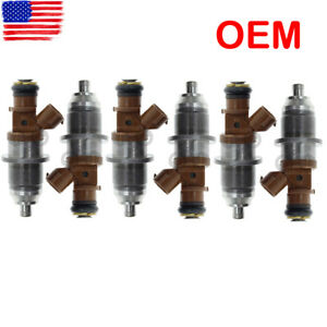 Set of 6 Fuel Injector E7T25071 68F-13761-00-00 For Yamaha Outboard HPDI