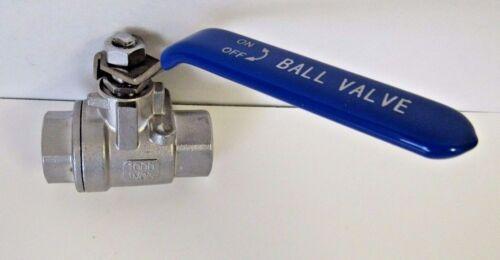 """CF8 2pc Cast Ball Valve Full Port WOG New 1-1//4"""" FNPT 304 Stainless Steel"""