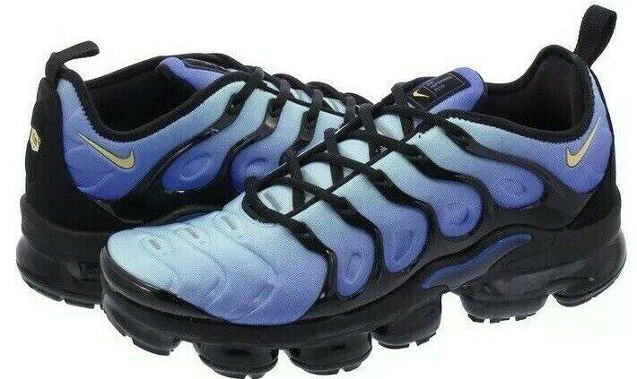NIke Air Vapormax Plus Black Chamois Hyper bluee Men's SZ  10 924453-008 NOBOXTOP