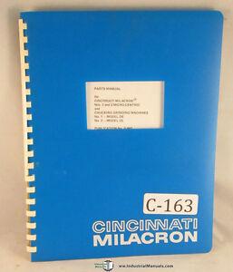 Cincinnati-Milacron-1-and-2-Micro-Centric-Grinding-Machine-Parts-Manual