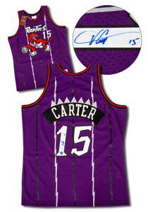 Vince-Carter-Toronto-Raptors-Autographed-Retro-Mitchell-amp-Ness-Basketball-Jersey