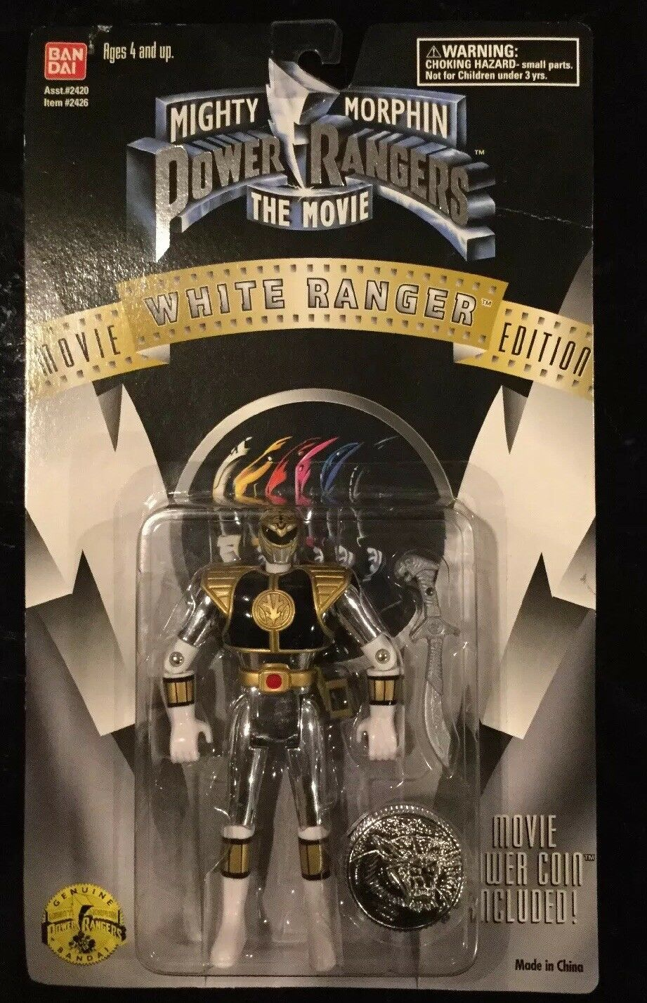 Mächtige morphin power rangers den film  Weiß 5 - fabrik versiegelt, 1995
