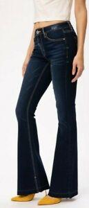 Nwt Kancan Sexy Denim Flare Jeans Top Fashion Trend Mid Rise Slimming Sz 1 20 Ebay