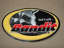 "Bandit Lure Land it with Bandit Lues Fishing Sticker 4""x6"" oval"