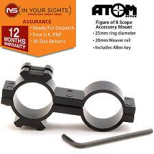 Figure of 8 torch / laser mount 25mm x 25mm Rifle scope flashlight bracket