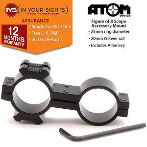 Figure-of-8-torch-laser-mount-25mm-x-25mm-Rifle-scope-flashlight-bracket