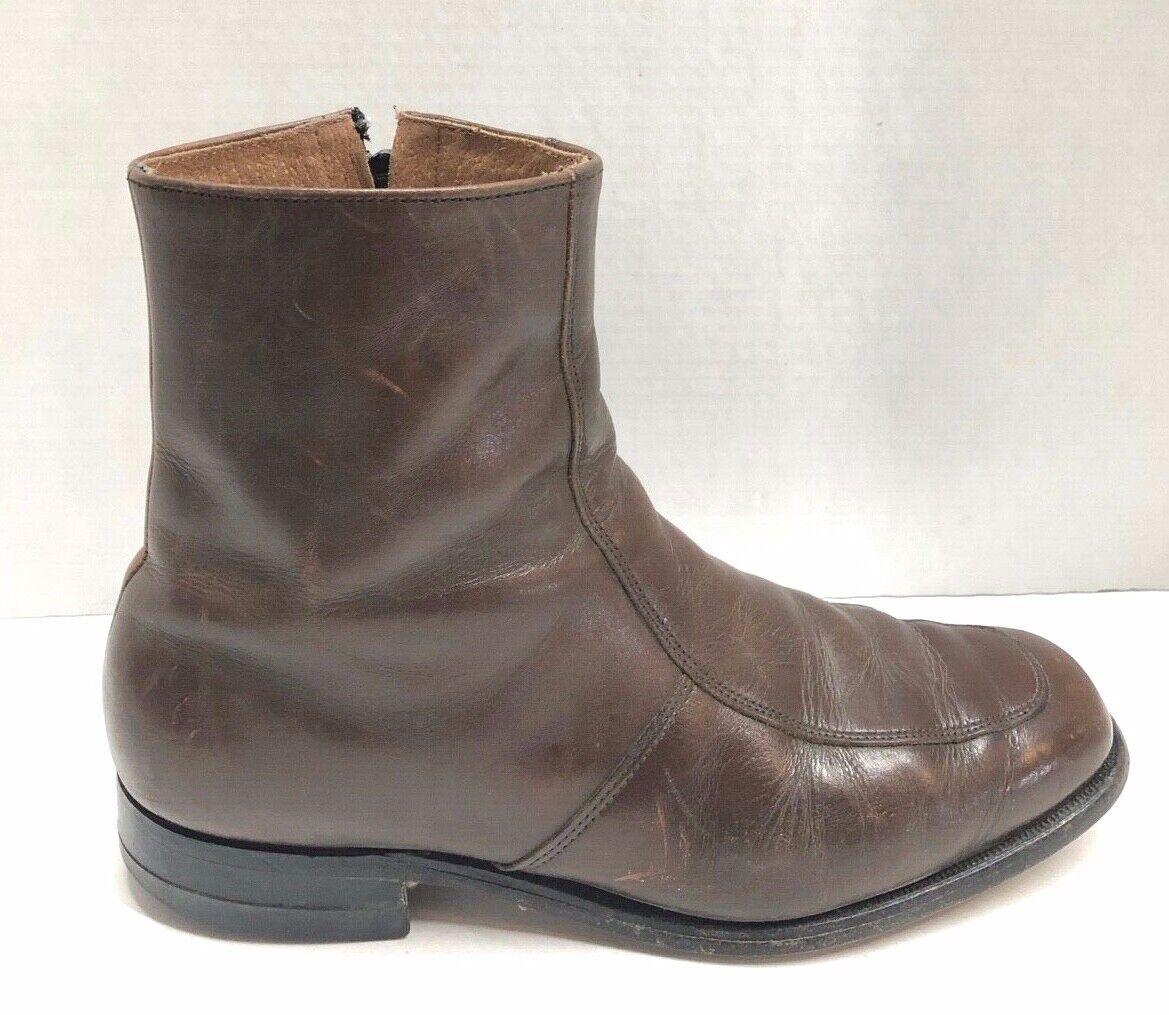 Florsheim Homme Taille 8.5 D en cuir Marron Bottines   Bottes Fermeture Éclair Latérale