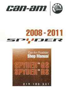can am spyder gs rs 2008 2009 2010 2011 roadster service manual in d rh ebay com can am spyder service manual pdf can am spyder service manual
