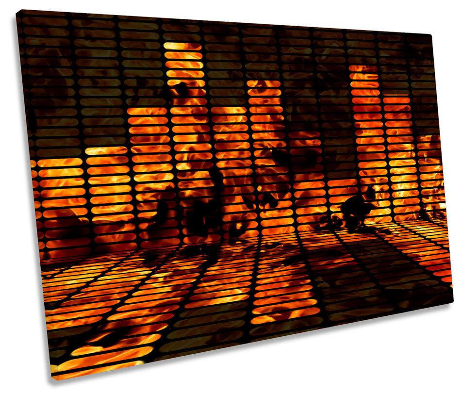 MUSICA DJ GUAM Equaliser moderna tela singola WALL ART PICTURE PRINT