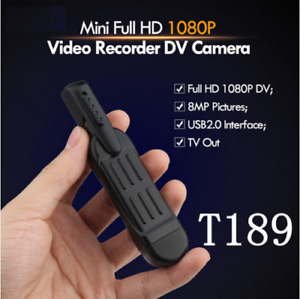 Full Hd 1080p Mini Dv Dvr Pocket Pen Dvr Caméra Vidéo Enregistreur Vocal Hdmi T189-afficher Le Titre D'origine