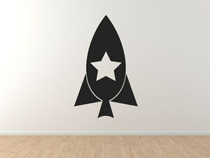Details about Model Rocket Ship #1 - Rocketry Hobby Launch Engine Star -  Vinyl Wall Decal