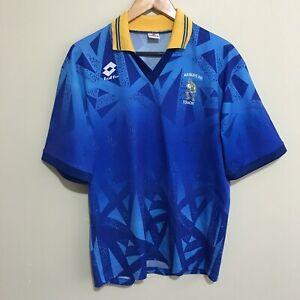Lotto-Manurewa-Touch-Vintage-90-039-s-Shirt-Soccer-Football-Jersey-Shirt-Mens-Large
