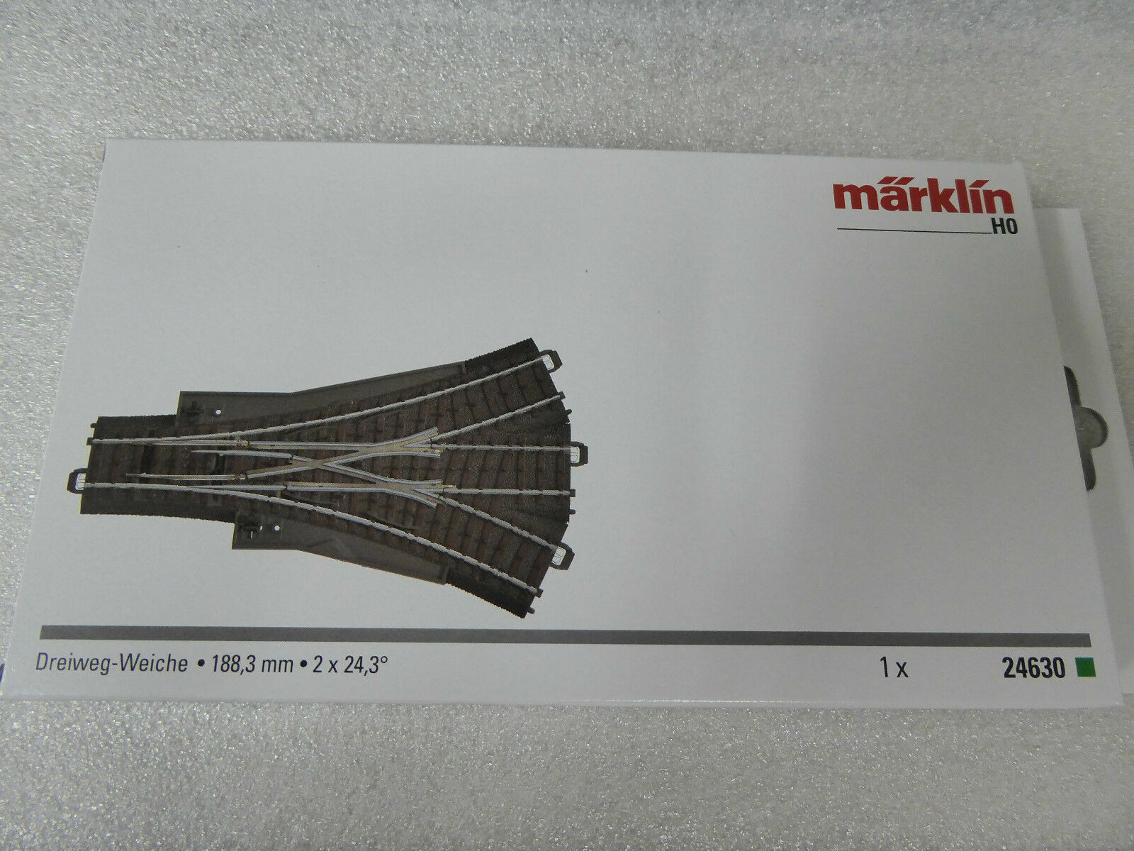 Märklin H0 24630 C-Gleis Dreiwegweiche Neuware