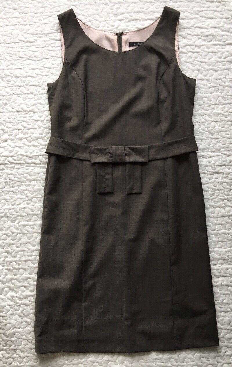 Windsor Etui Kleid mit abnehmbaren Gürtel gefüttert Gr. 42 frisch gereinigt