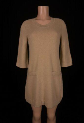 WAYNE CLARK Cashmere Dress M Tan Pockets Super Sof